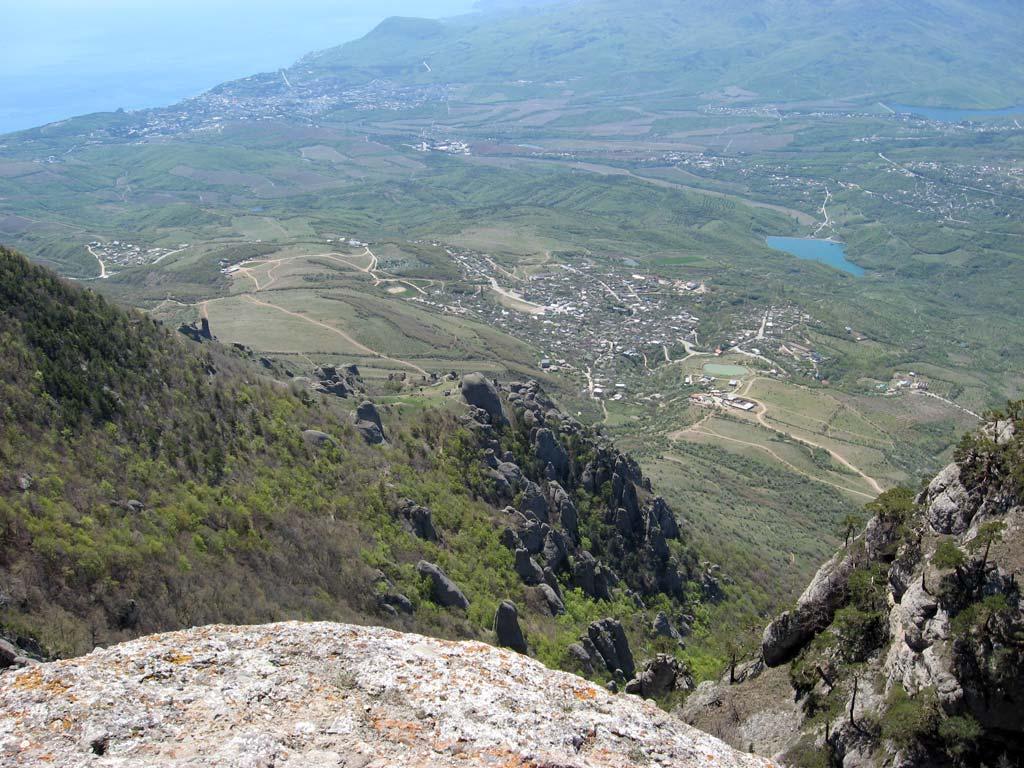 Долина приведений, вид сверху