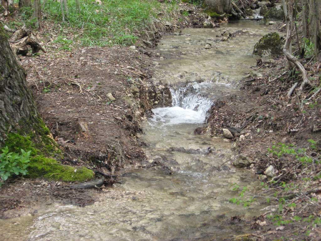 Тропу размыло после дождя