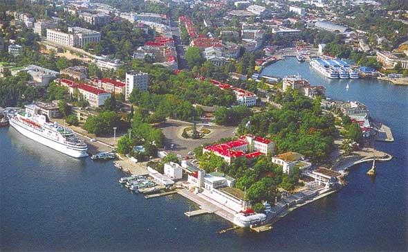 Панорама центра Севастополя