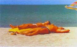 На евпаторийском пляже