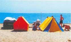 Палатки возле Евпатории