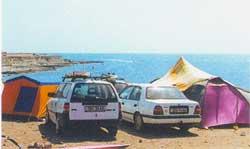 Автостоянка на Тарханкуте