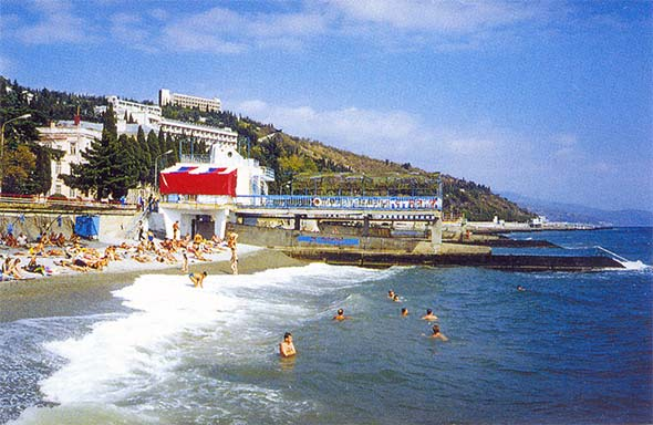 Пляж в Профессорском уголке