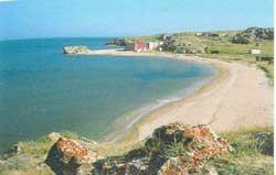 пляж в селе Золотое