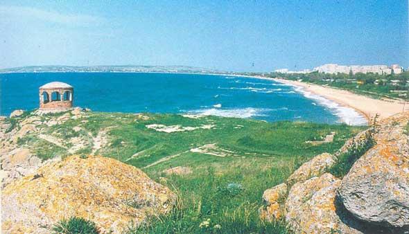 побережье возле Щелкино