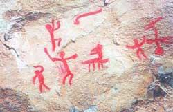 Скальные рисунки Таш-Аира